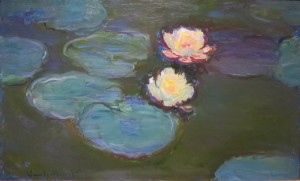 Waterlelies van Monet.