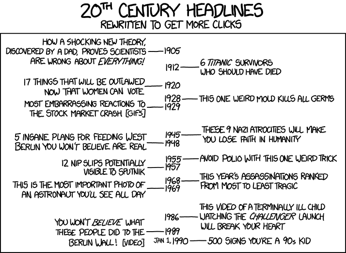 Cartoon van XKCD - http://xkcd.com/1283/