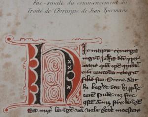 Tekening van enkele passages uit het middeleeuwse handschrift dat in 1854 door Jean Carolus werd uitgegeven