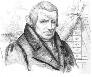 Portret van Pierre-Engelbert Wauters, 1840. De boeken op de achtergrond illustreren Wauters' eruditie