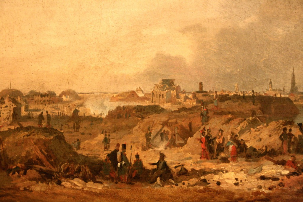 De citadel van Antwerpen na het beleg van 1832