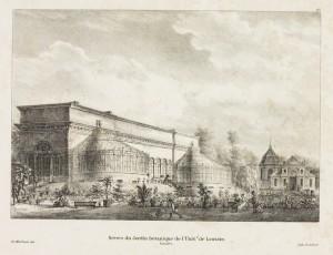 De Leuvense botanische tuin ca. 1830, op de huidige locatie.