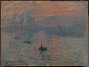 Claude Monet, Impression, soleil levant, 1873.