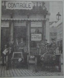 De voertuigen van Le Sportsman, 1905.