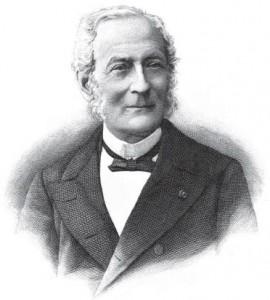 Portret van Louis Prosper Gachard.