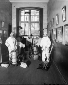 Gezondheidsagenten in Parijs, ca. 1900.