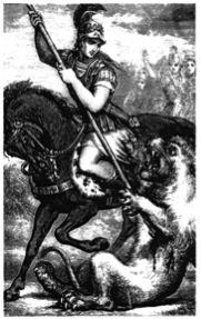 Heroïsch portret van Alexander in het jongerentijdschrift Chatterbox van 1880.