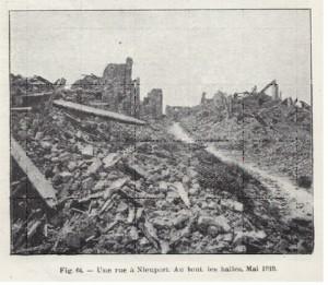 De straten van Nieuwpoort, na de oorlog.