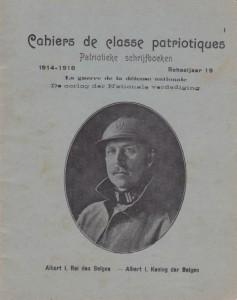 'Patriottisch schoolschrift' met koning Albert in militair uniform (Archief School van Toen, Gent)