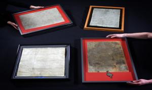 De vier overgeleverde originelen van de Magna Carta werden naar aanleiding van hun achthonderdjarig bestaan van 2 tot 4 februari 2015 verenigd in de British Library. 1215 mensen kregen per loting de unieke kans de vier originelen op één locatie te bezichtigen.