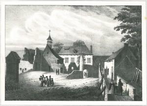 De hoeve van Hougoumont.