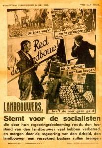 Bij de verkiezingscampagne van 1936 mikte de Belgische Werkliedenpartij ook op stemmen van het platteland (Amsab – Instituut voor Sociale Geschiedenis).