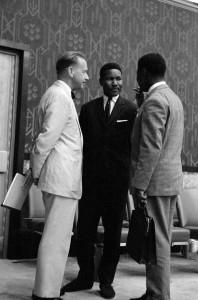 Thomas Kanza en Dag Hammarskjöld, de secretaris-generaal van de Verenigde Naties, die in 1961 omkwam in een vliegtuigongeluk in Congo.