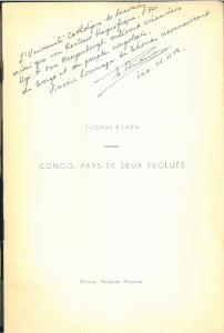 De opdracht die Thomas Kanza in 1956 schreef in zijn Congo, pays des deux évolués.