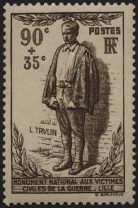 Franse postzegel ter nagedachtenis aan Trulin.