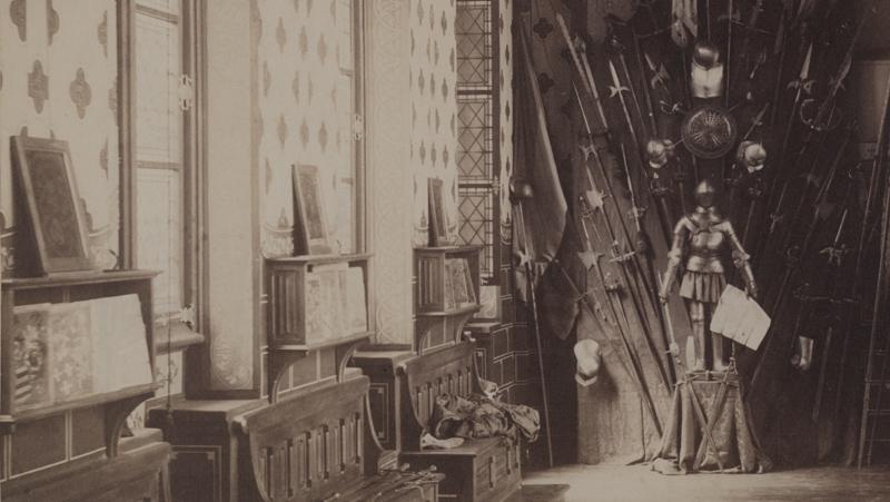Pronken met archief in het stadhuis te Gent, eind negentiende eeuw.