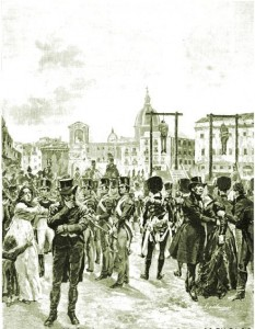 Met de komst van de Habsburgse troepen eindigden heel wat Italiaanse revolutionairen aan de galg.