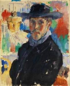 Zelfportret van Rik Wouters.