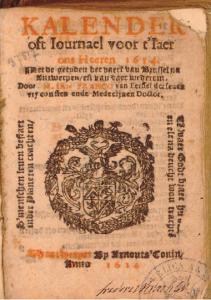 Titelblad van de almanak van 'Ian Franco' voor het jaar 1614