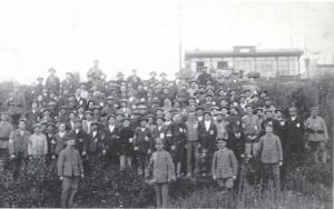 De opgeëisten in Merelbeke.