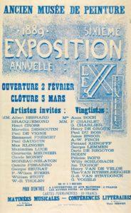 Affiche voor de jaarlijkse tentoonstelling van 'les XX' in het Brusselse Paleis voor Schone Kunsten (1889).