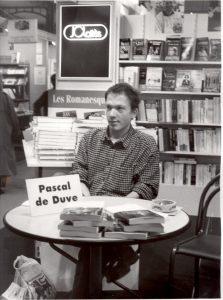 Pascal de Duve op de boekenbeurs.
