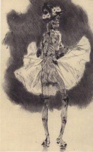 Félicien Rops, La mort qui danse (ca. 1865)