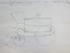 Schets van een lijkkoets, 1846